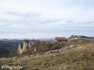 Cabaña típica del occidente de la Cordillera Cantábrica