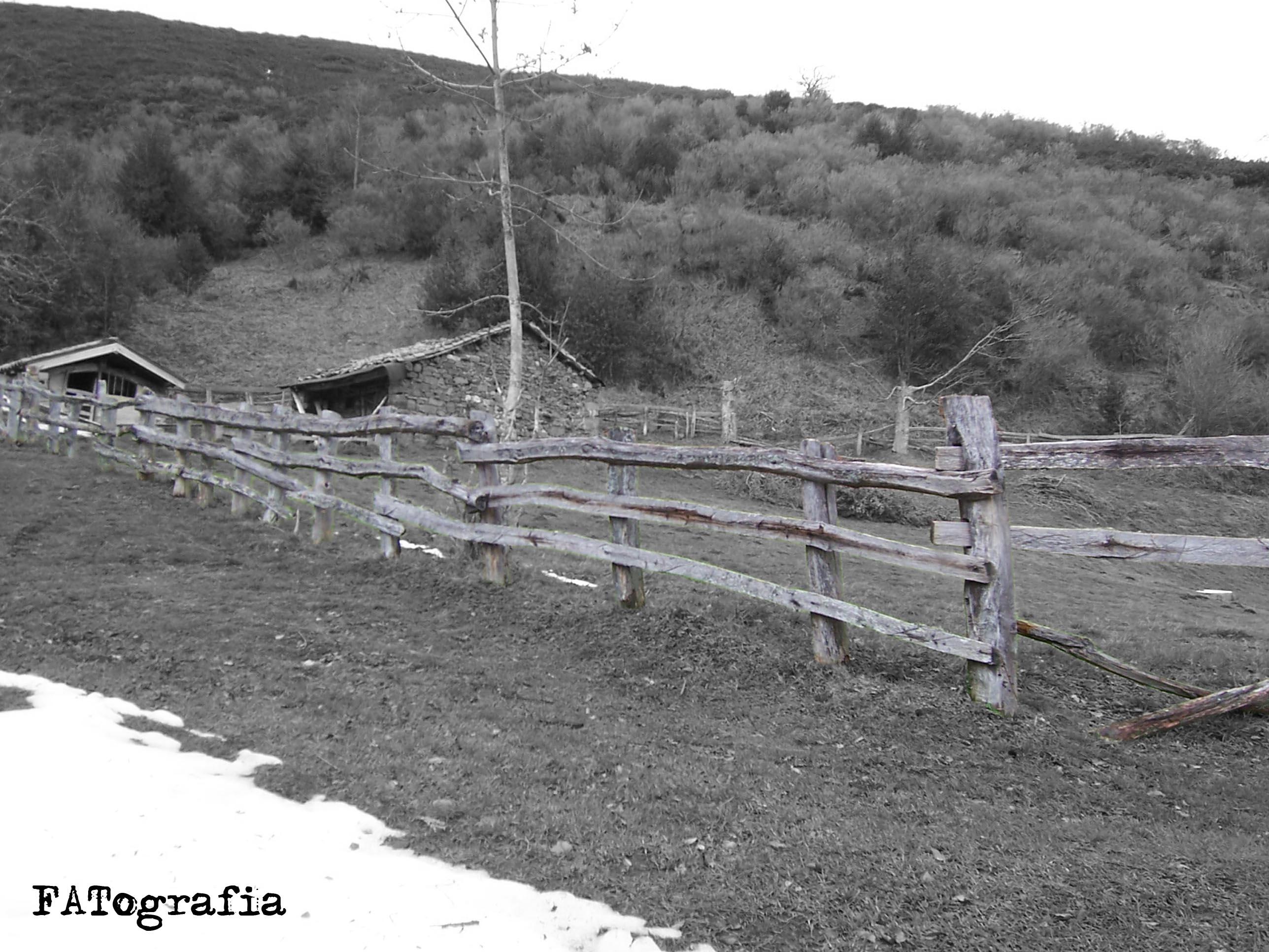 Tejado realizado con tablones de madera en unas caba as de - Cierres de madera ...